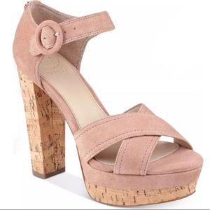 Guess Women's Paris Platform Sandals Medium Pink